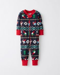 Night Night Baby Sleepers In Pure Organic Cotton in Gnome Sweet Gnome - main Matching Family Holiday Pajamas, Family Pajama Sets, Matching Pajamas, Baby & Toddler Sleepwear, Toddler Pajamas, Toddler Outfits, Boy Outfits, Girls Clothes Shops, Baby Sleepers