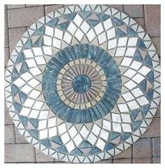32 Marble Tile Mosaic Medallion Design Stone Flooring 32 46 - pinupi love to share Mosaic Tile Table, Mosaic Pots, Mosaic Wall, Mosaic Glass, Glass Art, Mosaic Crafts, Mosaic Projects, Mosaic Designs, Mosaic Patterns