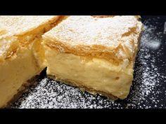 Házi krémes - YouTube Custard Cake, Cornbread, Cake Recipes, Deserts, Food And Drink, Sweets, Ethnic Recipes, Youtube, Hungarian Food