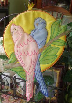 Antique Vintage Cloth Potholder Pink Blue by NeldaMaesCloset, $4.50