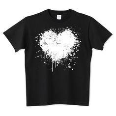 DRIPPING HEART /ドリッピングハート・インク・ペンキ・ストリート・グラフティ・音楽・ロック・パンク・可愛い・シンプル・絵・柄・模様・女性・アート・art・イラスト・ロゴ・デザインTシャツ | デザインTシャツ通販 T-SHIRTS TRINITY(Tシャツトリニティ)
