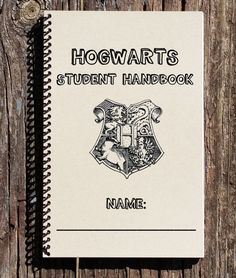 Harry Potter Inspired Notebook  Harry Potter by CulturalBindings #harrypotter #etsy