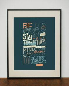 Dr Seuss Quote 11x14 Typography Art Print by ProjectType on Etsy