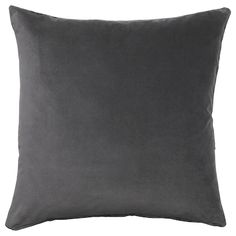 IKEA - SANELA, Cushion cover, dark gray, Cotton velvet gives depth to the color and is soft to the touch. The cushion is ideal to use when you read in bed as it covers your entire back. The hidden zipper makes the cover easy to remove. Velvet Cushions, Cushions On Sofa, Modern Cushions, Recycling Facility, Ikea Family, Family Room, Grey Pillows, Reading In Bed, Roller Blinds
