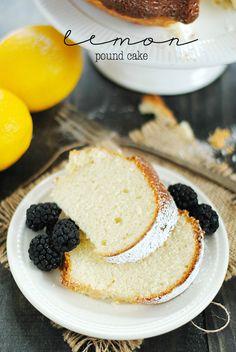 Lemon Pound Cake   www.somethingswanky.com