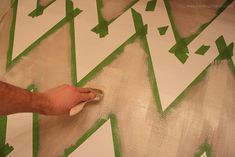 how to a paint a chevron wall :: a tutorial via inspiredbycharm.com