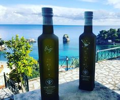 Virgilliant travels to Parga and meets the blue horizon of Greece! Olive Oil, Greece, Bottle, Blue, Travel, Food, Greece Country, Trips, Flask