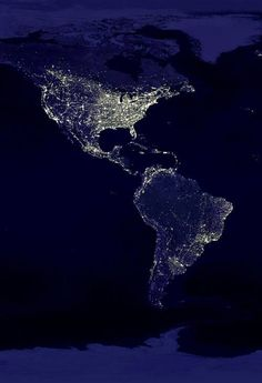 North and South America seen from Space
