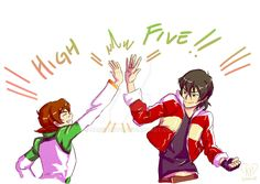 High Five!- Keith and Pidge from Voltron Legendary Defender