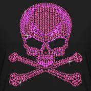 Pink Rhinestone Skull & Crossbones T-Shirt