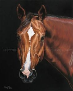 Horse Portrait Print of Pastel painting by Cindy Price McMurray - equine art on Etsy, $27.99