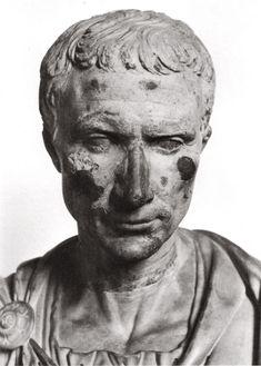 Gaius Julius Caesar. White marble. Julio-Claudian time.  Florence, Palazzo Pitti