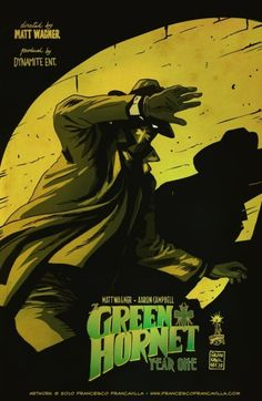 """Dynamite Entertainment's version of The Green Hornet from """"The Green Hornet: Year One.""""    Now this is some serious accurate mood to this cover. Features the original mask shape and hornet symbol and costume."""