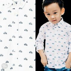 Smart Peter wearing Heybaby Tony cycled up shirt