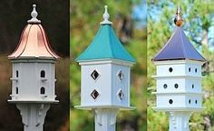 Add some major curb appeal with a dovecote birdhouse. Vinyl/PVC will never rot, crack, split or fade!