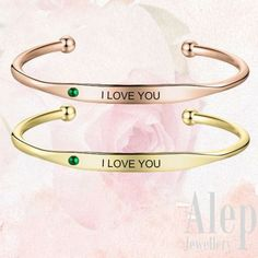 Customized Gift Idead For Her, Personalized bracelet For Women, Customized Gift For Mom, Personalized Gift For Mother, Customized Birthstone bracelet #birthstone #customized #personalized #bracelet #bracelets #etsy #giftideas Gold Plated Bracelets, Silver Bangles, Love Bracelets, Personalized Gifts For Mom, Personalized Bracelets, Personalised Jewellery, Engraved Bracelet, Bracelet Sizes, Mother Gifts