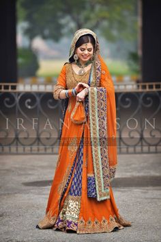 Pakistani Bridal Wear | Orange & Blue! #GoGators