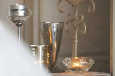 Chic Rustique Wedding Hire and Styling Products ~ www.chicrustique.com.au ~ Crystal Candlestick ~ Stained Glass Tealight Candle ~ Crystal Tealight Candle ~