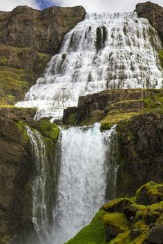 Dynjandi Falls In Iceland. Would love to slide down this waterfall (maybe using a cushion?)