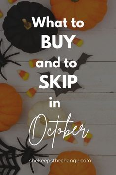 Find out what the best deals and sales are in October! Don't miss out on great savings and discounts! Keep reading this article to get the list of what to buy and what to skip! Best Money Saving Tips, Saving Money, Managing Money, Finance Tips, Blog Tips, Money Management, New Beginnings, Frugal Living, Personal Finance