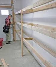 Image result for making wooden shelves for a small closet up high