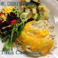Tuna Casserole - Mrs. Criddles Kitchen- Trim Healthy Mama S Meal