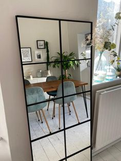 Industrial Mirrors, Industrial Bedroom Decor, Flur Design, Window Mirror, Diy Mirror, My New Room, Home Interior Design, Living Room, Decoration