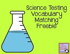 Science Testing Vocabulary Matching Freebie {for common vocab that appears on science STAAR}