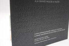 Gaufrage au verso (foulage) sur papier design pour Canal+ Cover, Design, Impressionism, Paper, Blankets, Design Comics