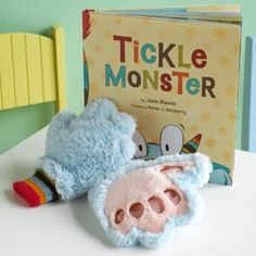 Tickle Monster. I saw these about two years ago and Erik had to make me take them off!