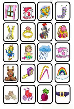 Beginklank R blad2 Bingo, Story Cubes, Fun Math, Learning Activities, Worksheets, Alphabet, Clip Art, Letters, Teaching