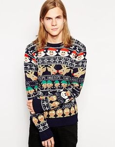 Buy D-Struct Christmas Jumper at ASOS. With free delivery and return options (Ts&Cs apply), online shopping has never been so easy. Get the latest trends with ASOS now. Ugly Christmas Jumpers, Christmas Clothes, Holiday Sweater, Knitwear, Latest Trends, Asos, Kitsch, Blouse, Holidays
