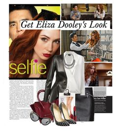 """""""Get the LOOK:Eliza Dooley Style from SELFIE"""" by bamaannie ❤ liked on Polyvore featuring H&M, Giorgio Armani, Alexander McQueen, MAC Cosmetics, Christian Louboutin, BaubleBar and Versace"""