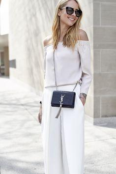 fashion-jackson-white-culottes-saint-laurent-monogram-crossbody-prada-retro-sunglasses-off-the-shoulder-top @clubmonaco