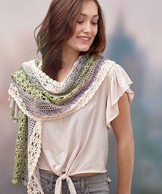 Delicate Shells Crochet Shawl