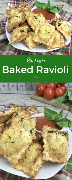 Air Fryer Baked Ravioli #healthyeating #airfryer #appetizer #recipeideas