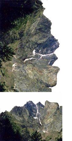 The Face of Gelas di Lourousa, Piemonte, Alps, Italy.