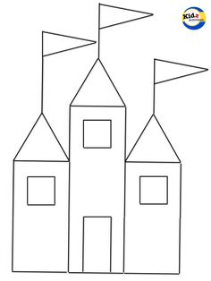 Printable Shapes Craft: Learning Shapes, Making A Princess Castle and A Rocketship - Kidz Activities Craft Activities For Toddlers, Preschool Crafts, Math For Kids, Craft Stick Crafts, Castle Crafts, Daycare Themes, Princess Crafts, Printable Shapes, Teaching Shapes