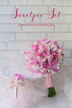 スイートピーブーケ&ブートニアのスイートピーセットは1〜3月まで! 東京目黒不動前フラワースタジオフローラフローラ ウェディングブーケ装花&フラワースクール