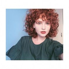 Getting up every morning and liking yourself is near impossible- but you get to take your time. You get to set your own expectations and… Short Curly Haircuts, Curly Hair Cuts, Curly Hair Styles, Curly Bangs, Hair Inspo, Hair Inspiration, Grunge Hair, Hair Day, Red Hair