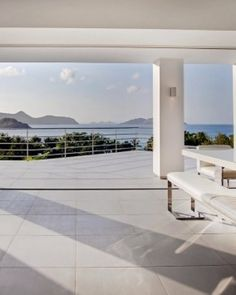Villa Avenstar    St Barts  The indoor dining room has a high-gloss table and pool and ocean views. #Jetsetter #JSBeachDining