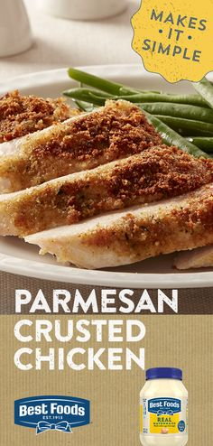 Looking to jazz up your chicken dinner? Try Hellmann's easy and delicious parmesan crusted chicken! collection ad inspiration about dinner recipes Crockpot Recipes, Chicken Recipes, Cooking Recipes, Healthy Recipes, Healthy Snacks, Cooking Beef, Cooking Games, Cooking Burgers, Cooking Torch
