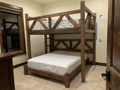 Custom bunk bed queen over king