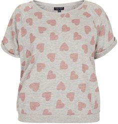 Topshop Heart Print Towelling Top on shopstyle.com