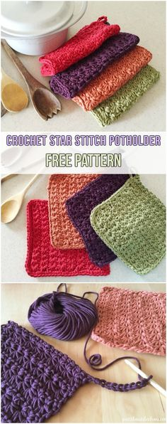 Double Thick Potholders Crochet Knitting And Such
