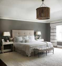 Wall color is Benjamin Moore Windy City via Dalia Canora