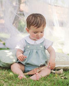 Ranita lino verde bebé niño | Corazón de león KIDS moda infantil