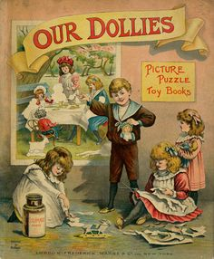 A complete dollhouse related children's antique book to print out in miniature - stunning full colour images inside as well | Source: University of Florida Digital Collection