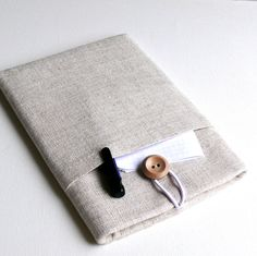 Kindle Cover Sleeve Fabric Padded Case eReader Kobo Nook Case with Pocket - Shock Absorbent Padding -  LINEN. $24.99, via Etsy.