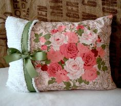 Shabby Chic Vintage Pillow Cover by Forever Lovely Design on Etsy by frances